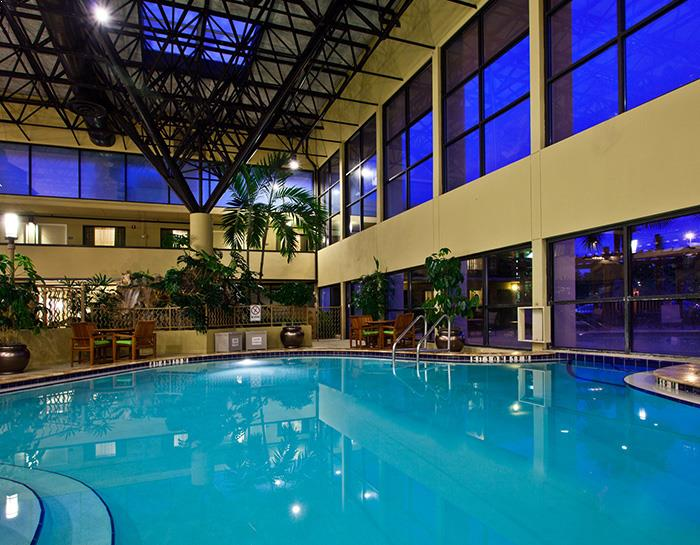 Heated Indoor and Outdoor Pool in Crowne Plaza Jacksonville Airport Hotel
