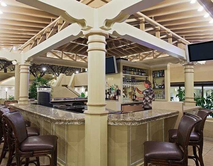 Internet Café, Restaurant & Rainforest Lounge of Crowne Plaza Jacksonville Airport Hotel